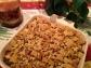 Chex as a topping, swee potato casserole, gluten free, gluten free sweet potato casserole, Christmas casserole, Le Creuset stoneware, Le Creuset