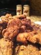 Fried venison.