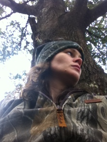 In the stand.